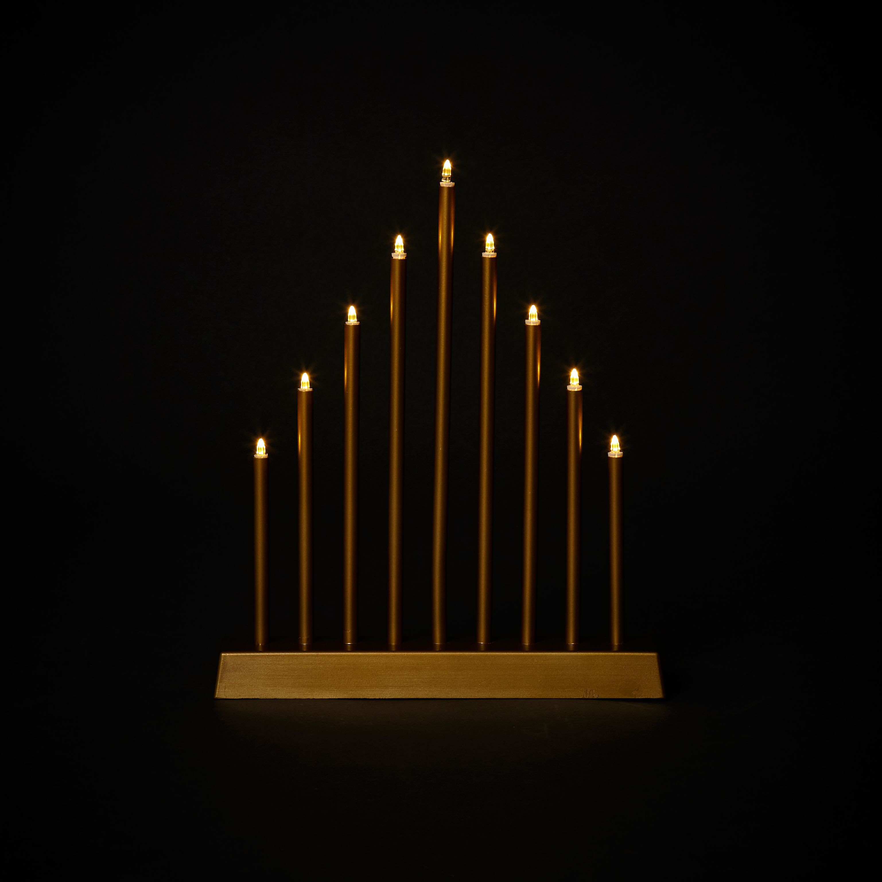 Battery Operated Led Modern Candle Arch Silhouette