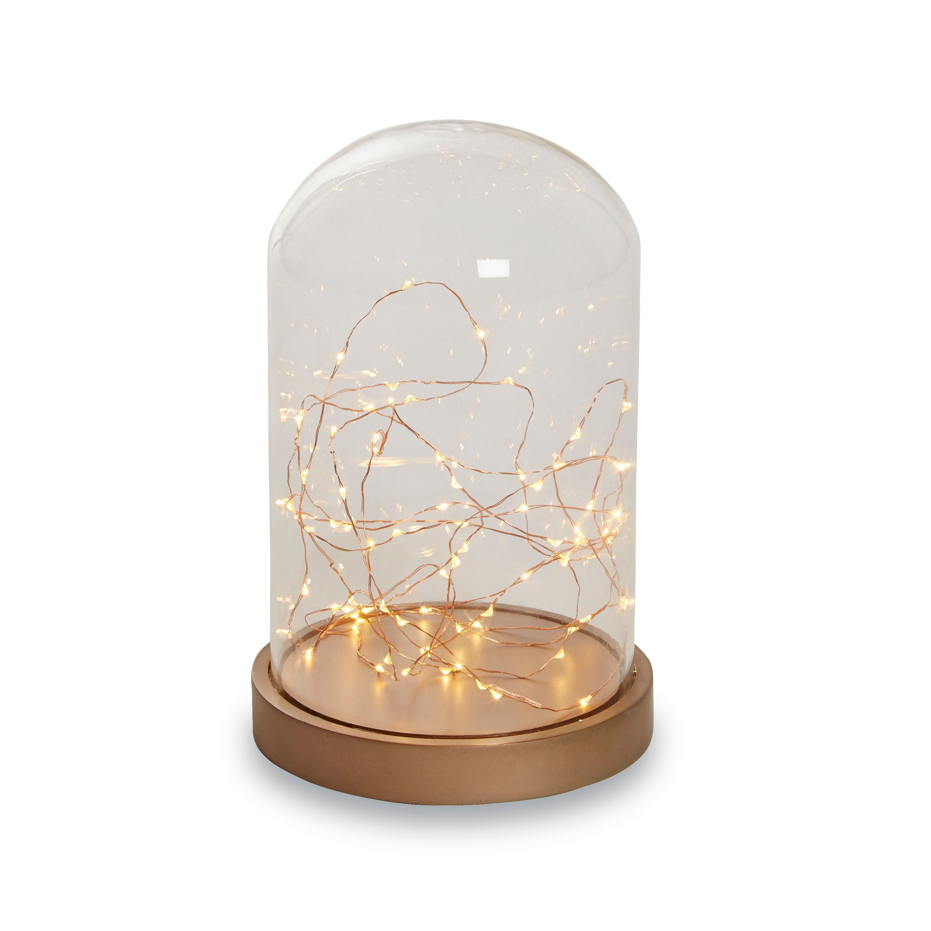 Battery Operated Led Copper Wire Light Dome Silhouette