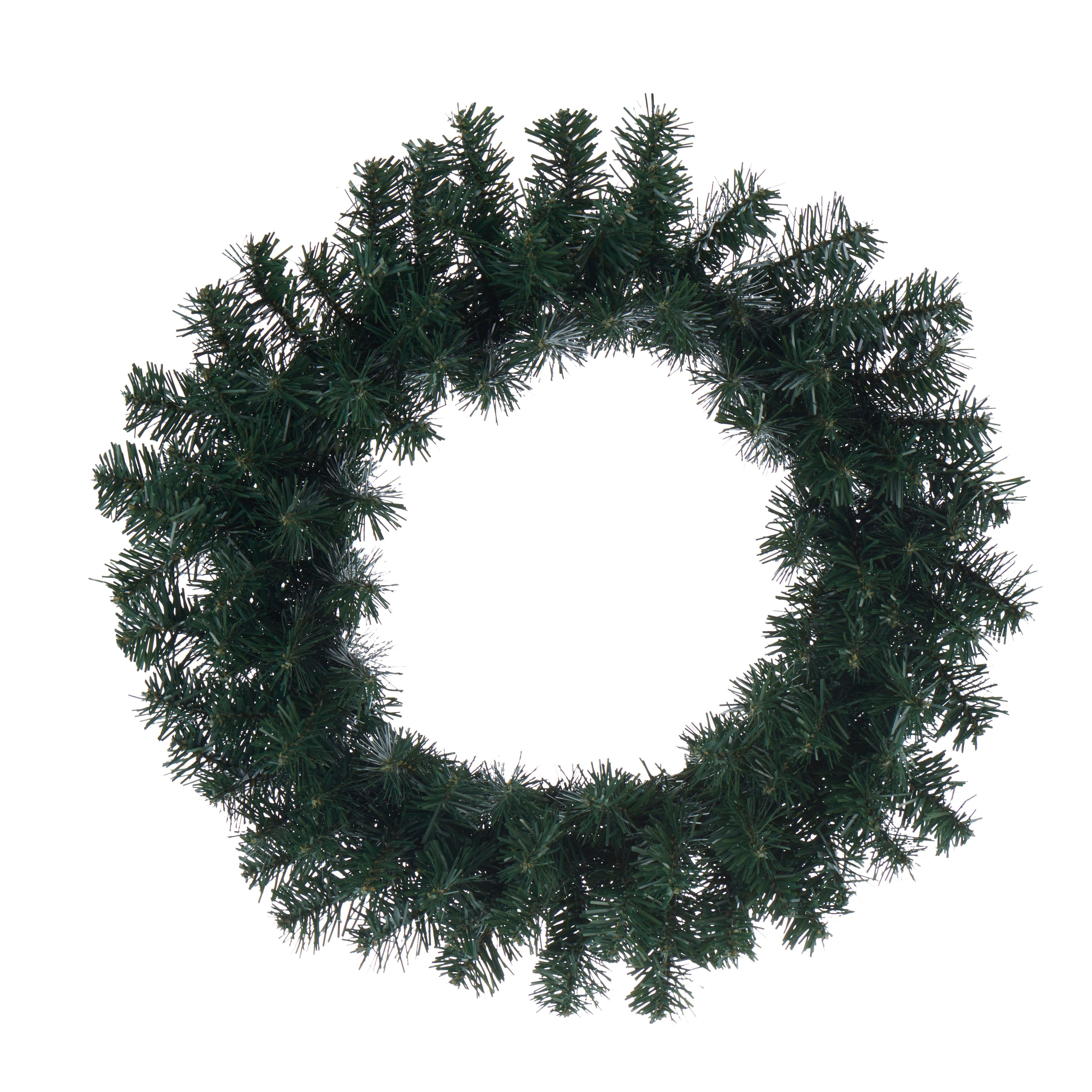 Traditional Green Woodland Pine Wreath, (d)500mm