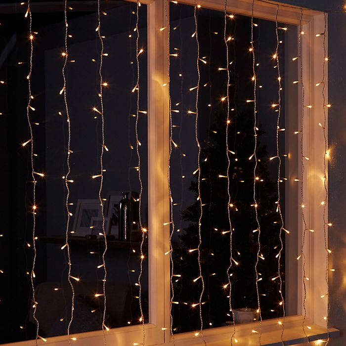 240 warm white LED curtain Christmas lights