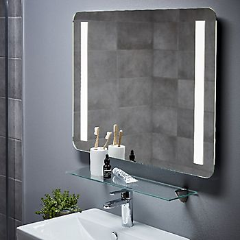 Cooke & Lewis Berrow Illuminated Rectangular Mirror