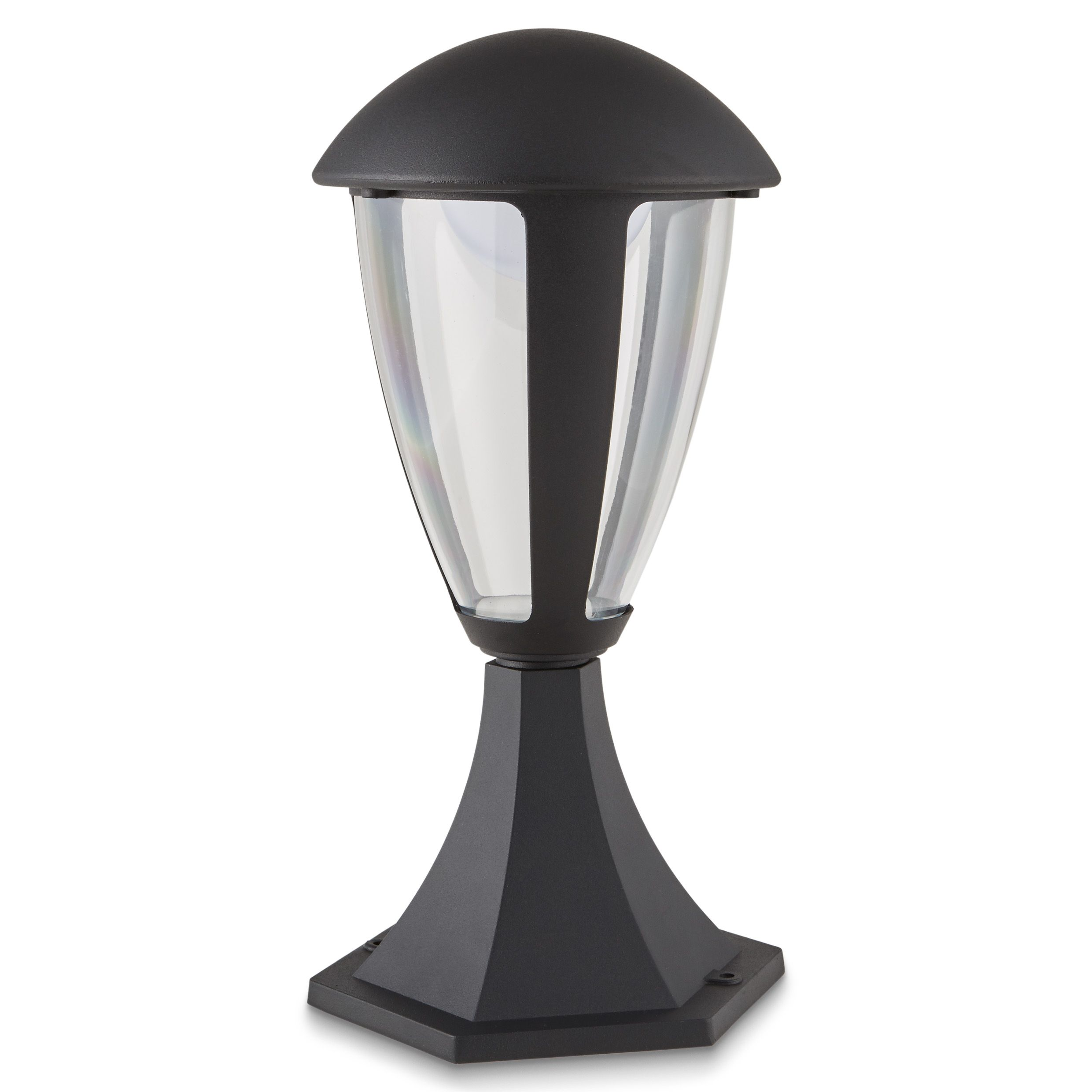Blooma Fredericton Powder Coated Black Led 4 Faces Post Light