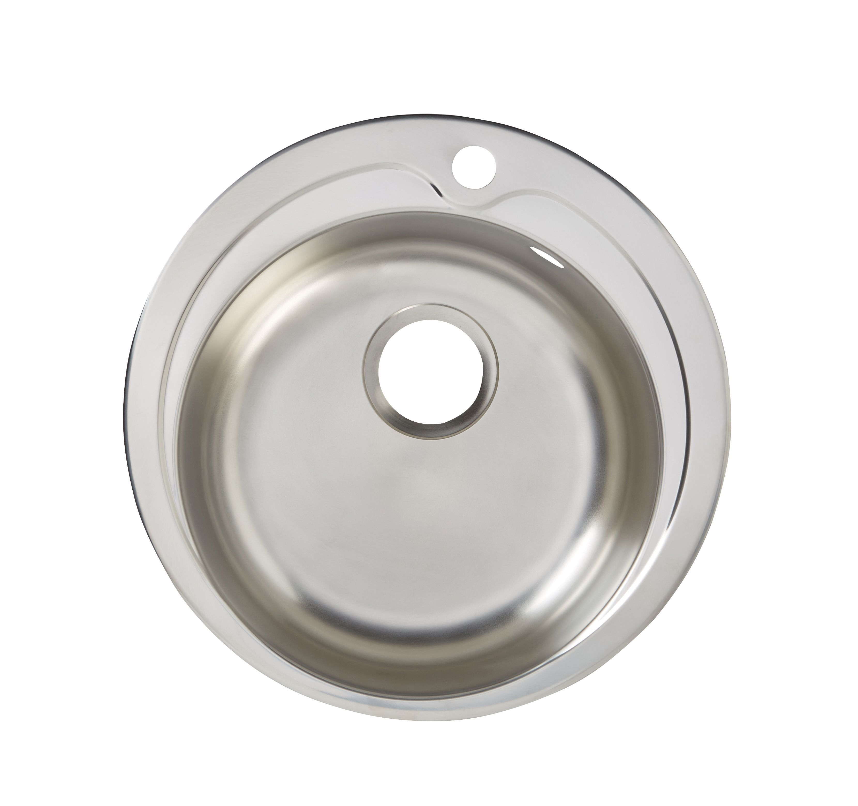 Quimby 1 Bowl Polished Stainless Steel Round Sink