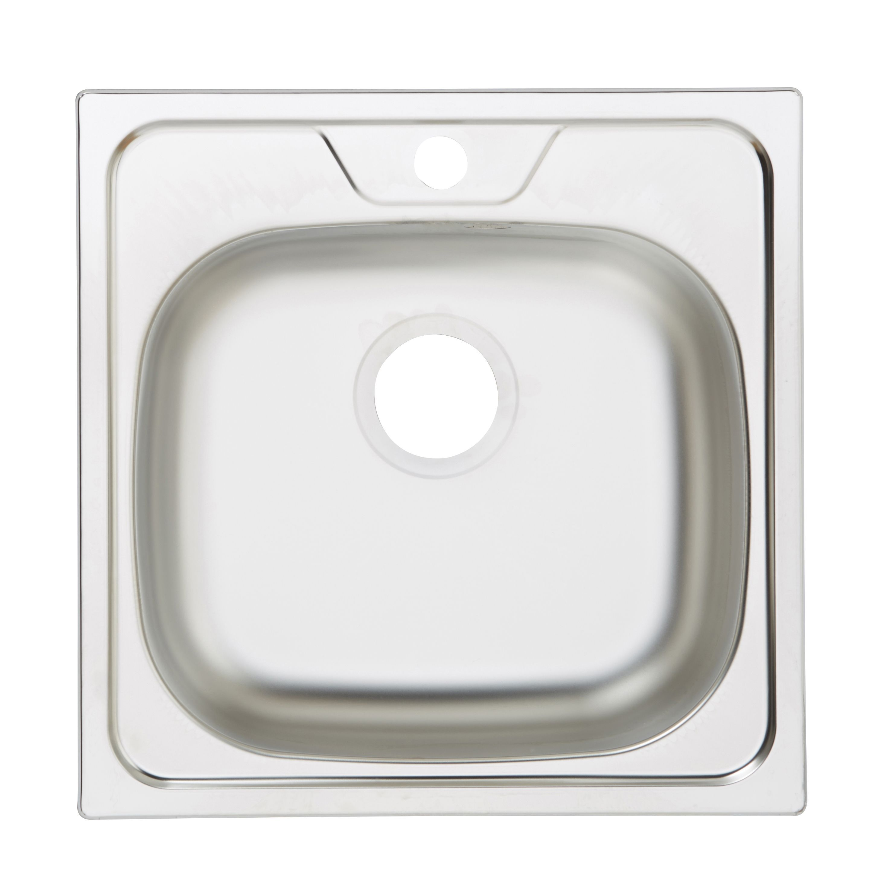 Single bowl stainless steel square kitchen sink inset chip - Square stainless steel bathroom sink ...