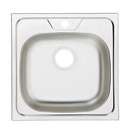 Gamow 1 Bowl Stainless Steel Square Sink