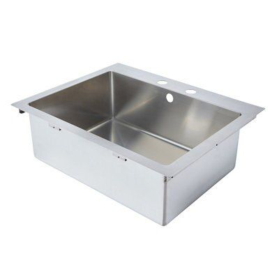 Cooke & Lewis Ampère 1 Bowl Brushed Stainless Steel Sink