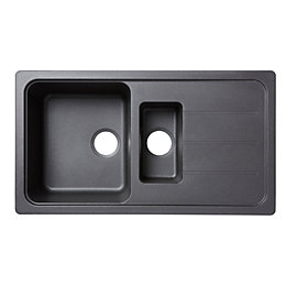 Cooke & Lewis Arber 1.5 Bowl Black Composite
