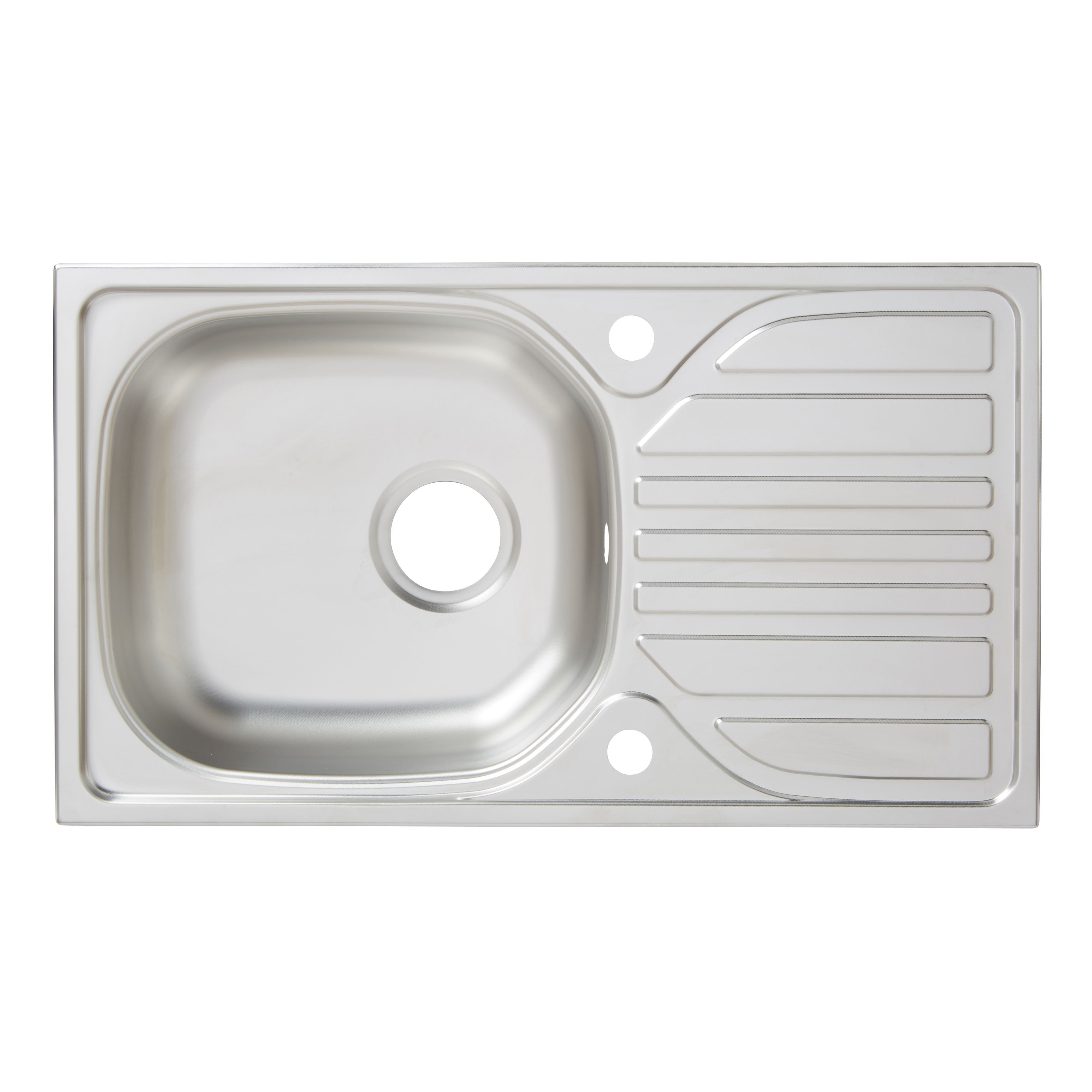 Turing 1 Bowl Linen Finish Stainless Steel Sink & Drainer