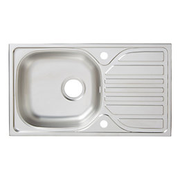 Turing 1 Bowl Linen Finish Stainless Steel Sink