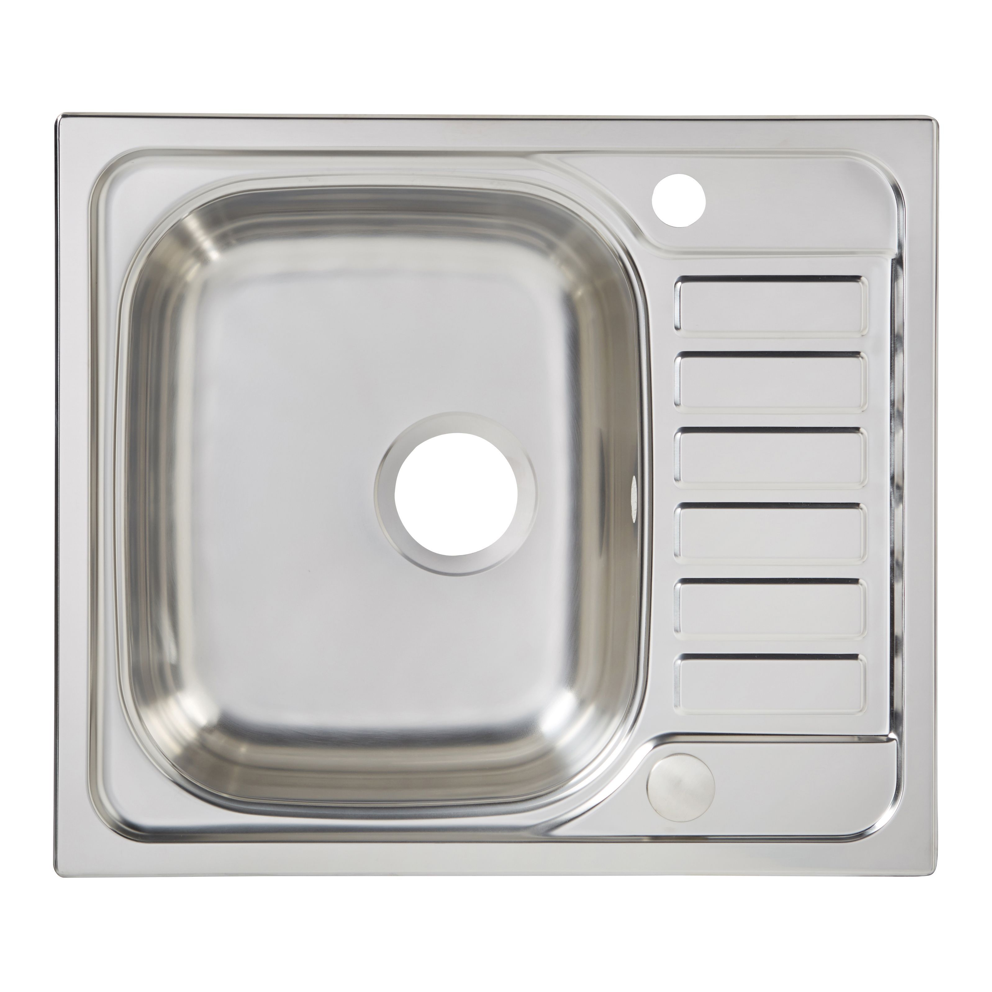 cooke & lewis sagan 1 bowl polished stainless steel compact sink
