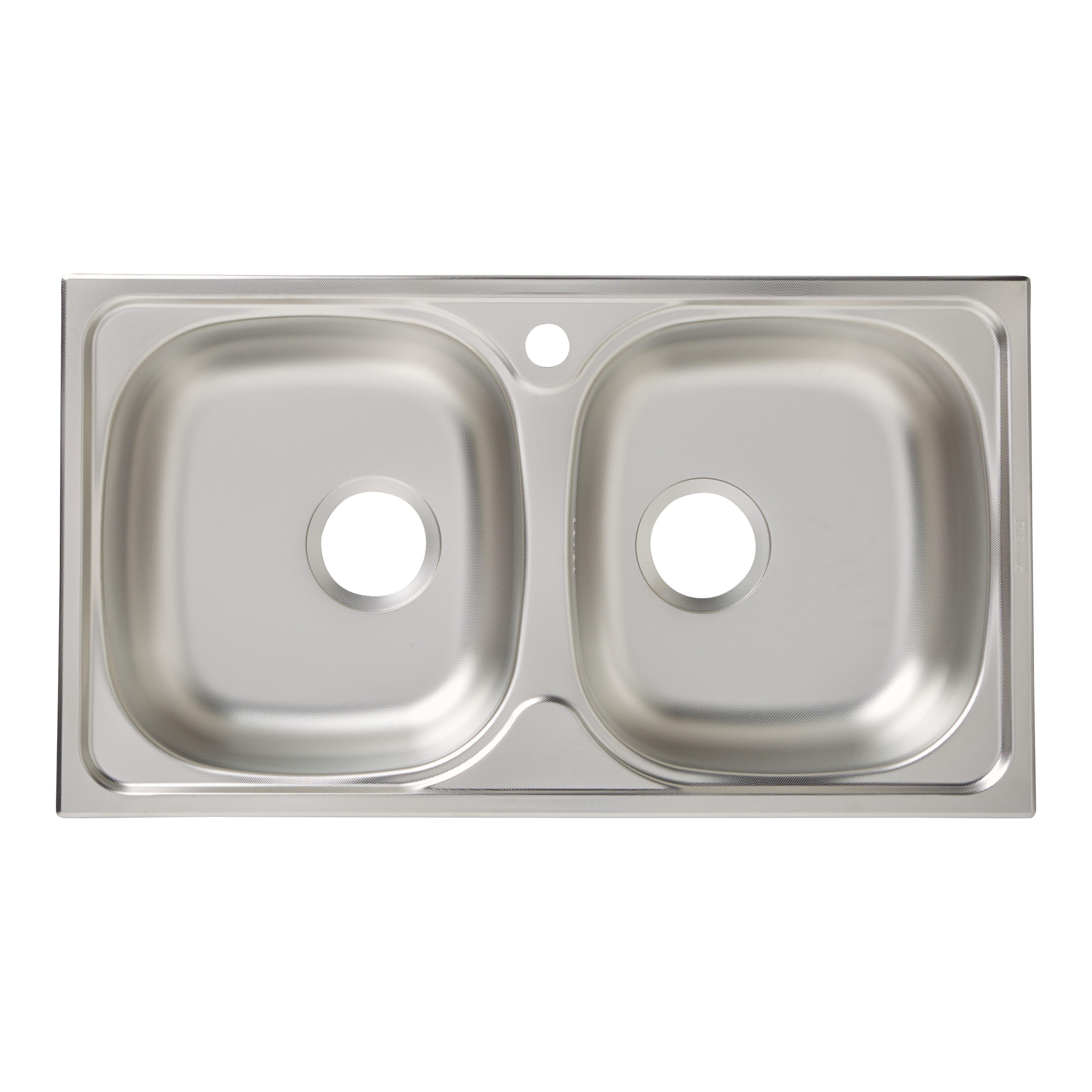 Franke Linen Finish Sinks : ... Lewis Jemison 1 Bowl Linen Finish Stainless Steel Round Sink & Drainer