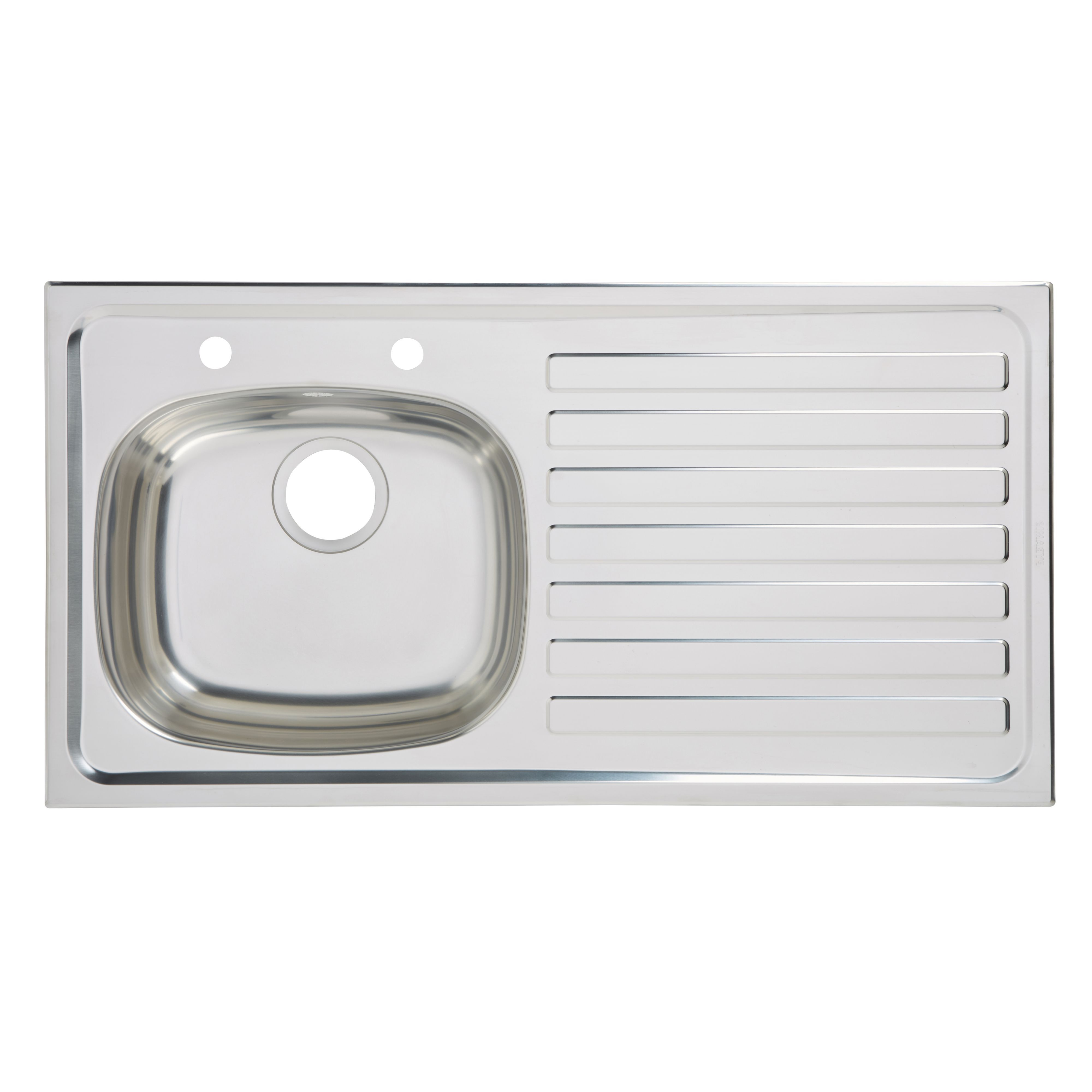 Utility 1 Bowl Polished Stainless Steel Sink & Rh Drainer