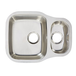 Cooke & Lewis Foucault 1.5 Bowl Polished Stainless