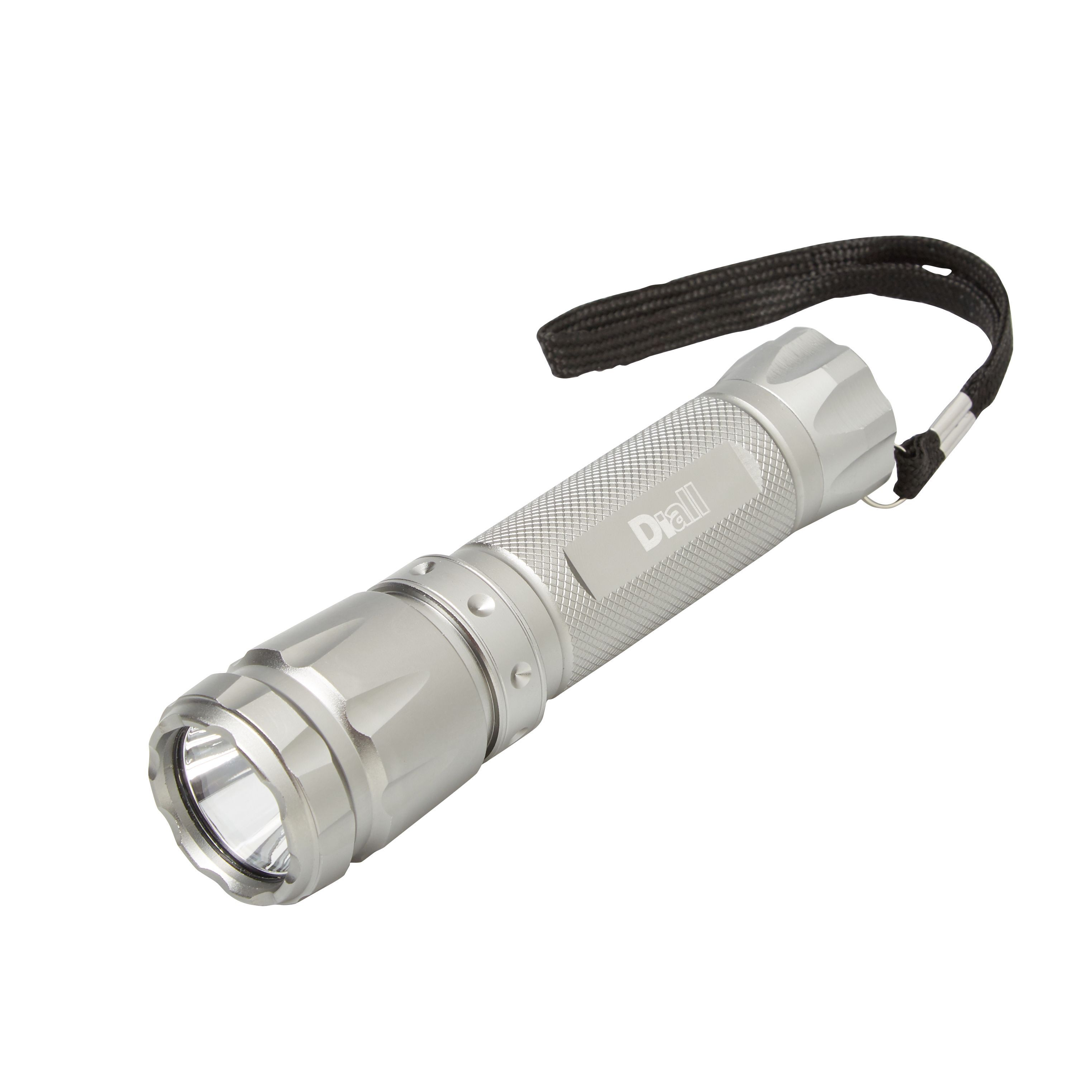 Diall 130lm Aluminium Led Silver Torch Departments Diy