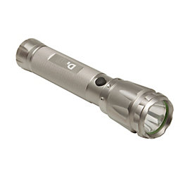 Diall 150lm Aluminium LED Silver Torch