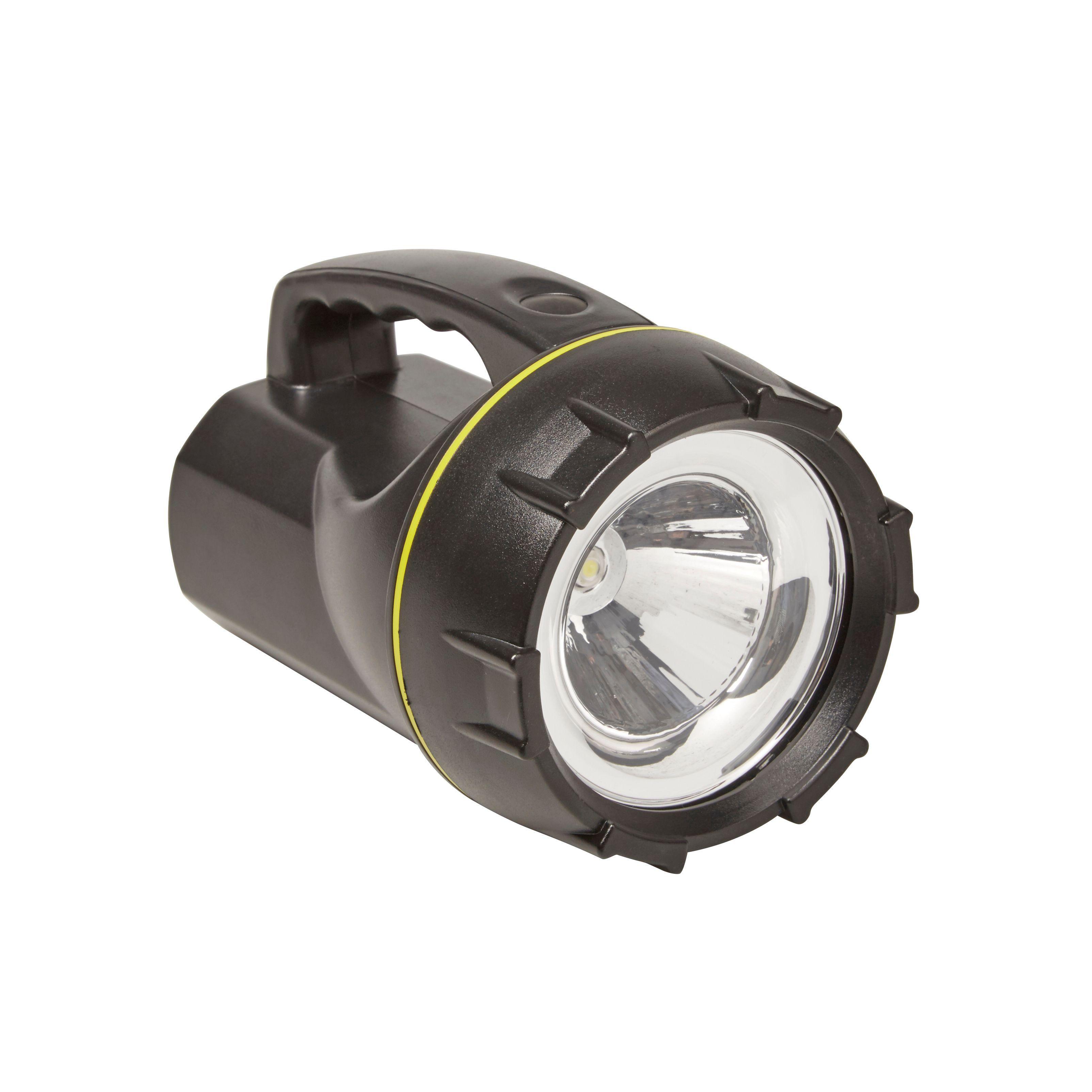 Driveway Lights B Q: Diall 120lm Plastic LED Black Rechargeable Spotlight