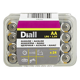 Diall AA Alkaline Battery, Pack of 24