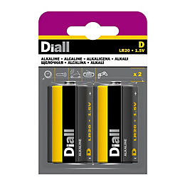 Diall D Alkaline Battery, Pack of 2