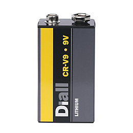 Diall Non Rechargeable 9V Lithium Battery