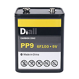 Diall PP9 Zinc Carbon Battery
