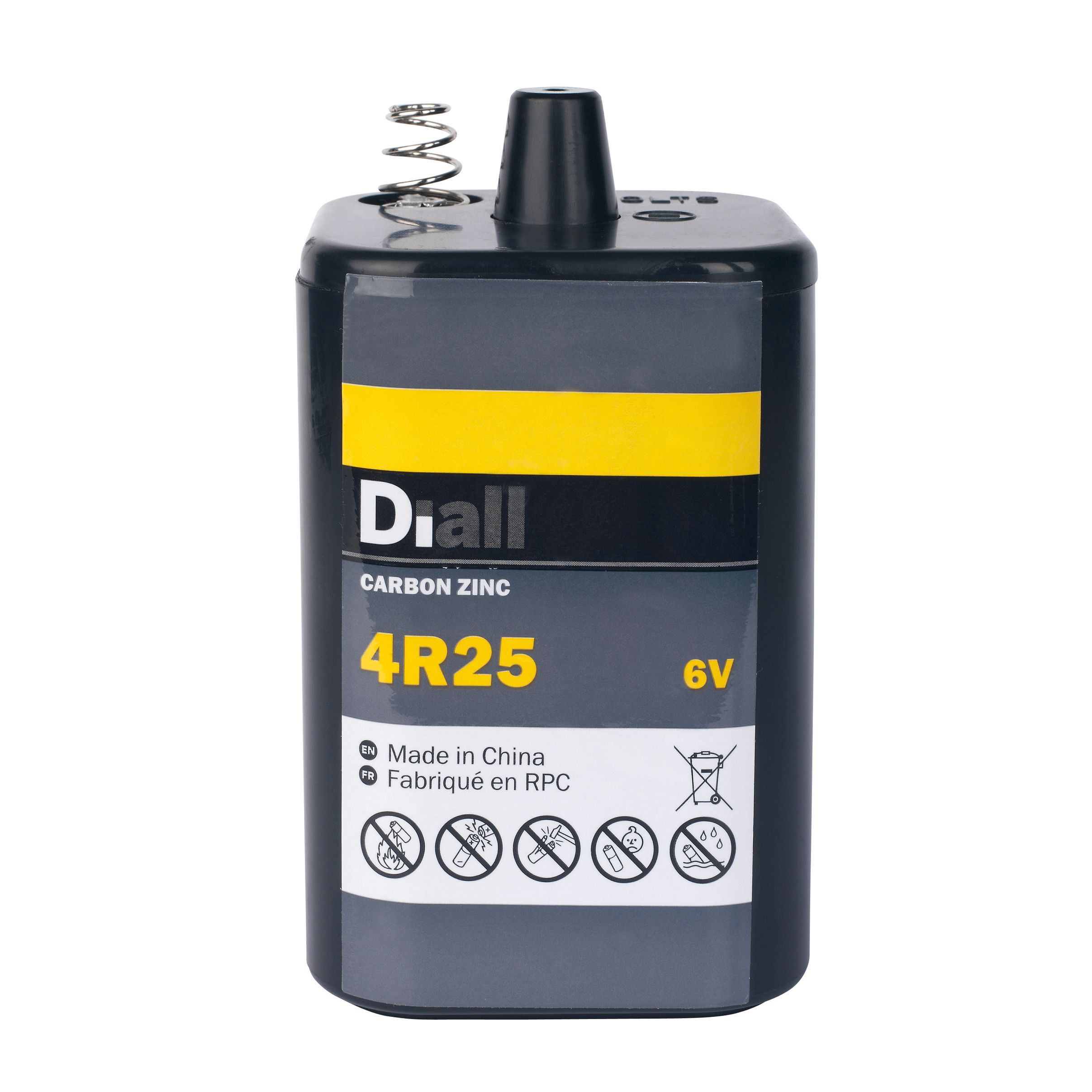 Zinc Carbon Battery : Diall non rechargeable r pj zinc carbon battery