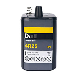 Diall Non Rechargeable 4R25 Pj996 Zinc Carbon Battery
