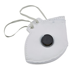 JSP Disposable Valved Fold Flat Respiratory Mask, Pack