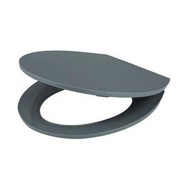 grey soft close toilet seat. Cooke  Lewis Changi Grey Soft Close Toilet Seat Departments DIY at B Q