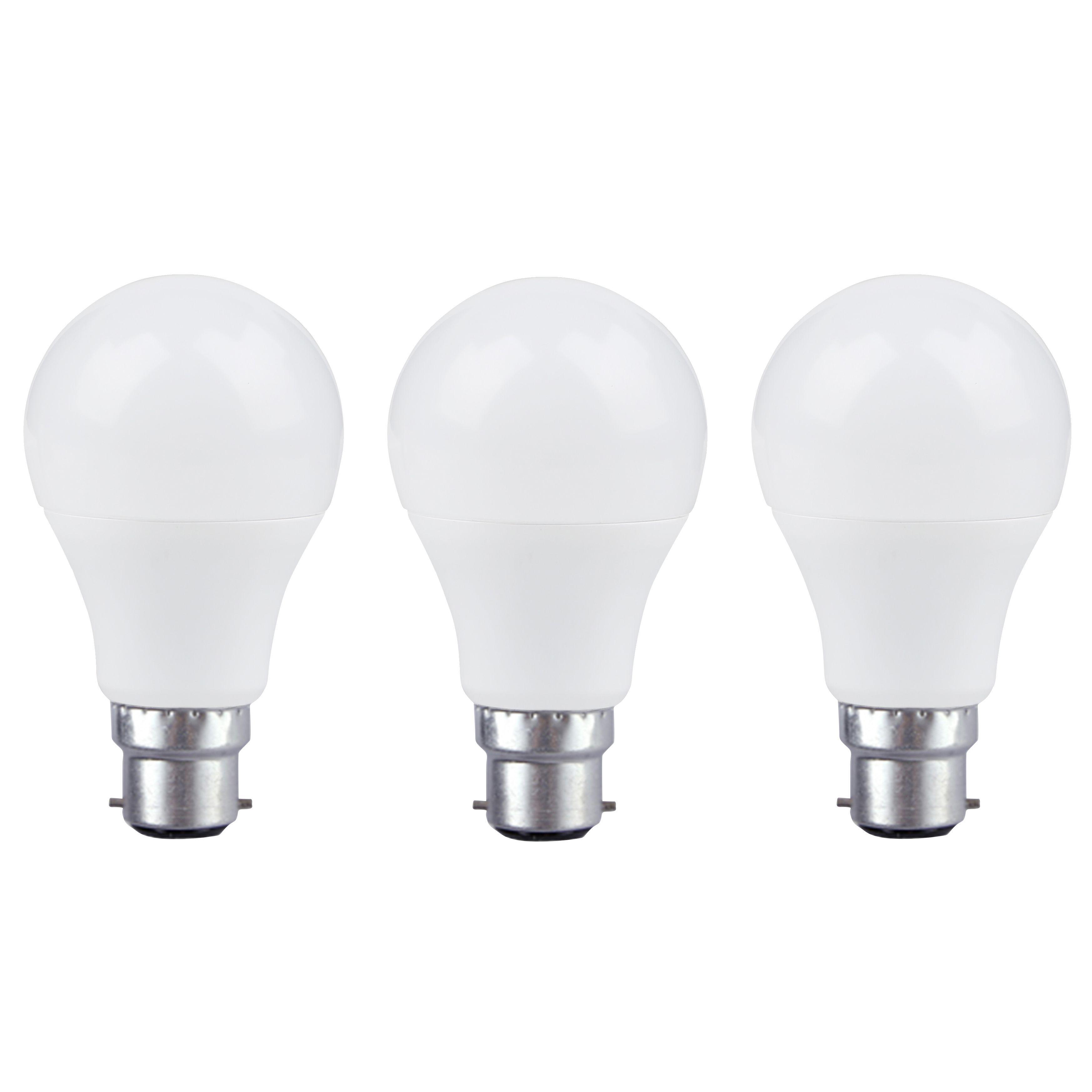 Diall B22 806lm Led Classic Light Bulb, Pack Of 3