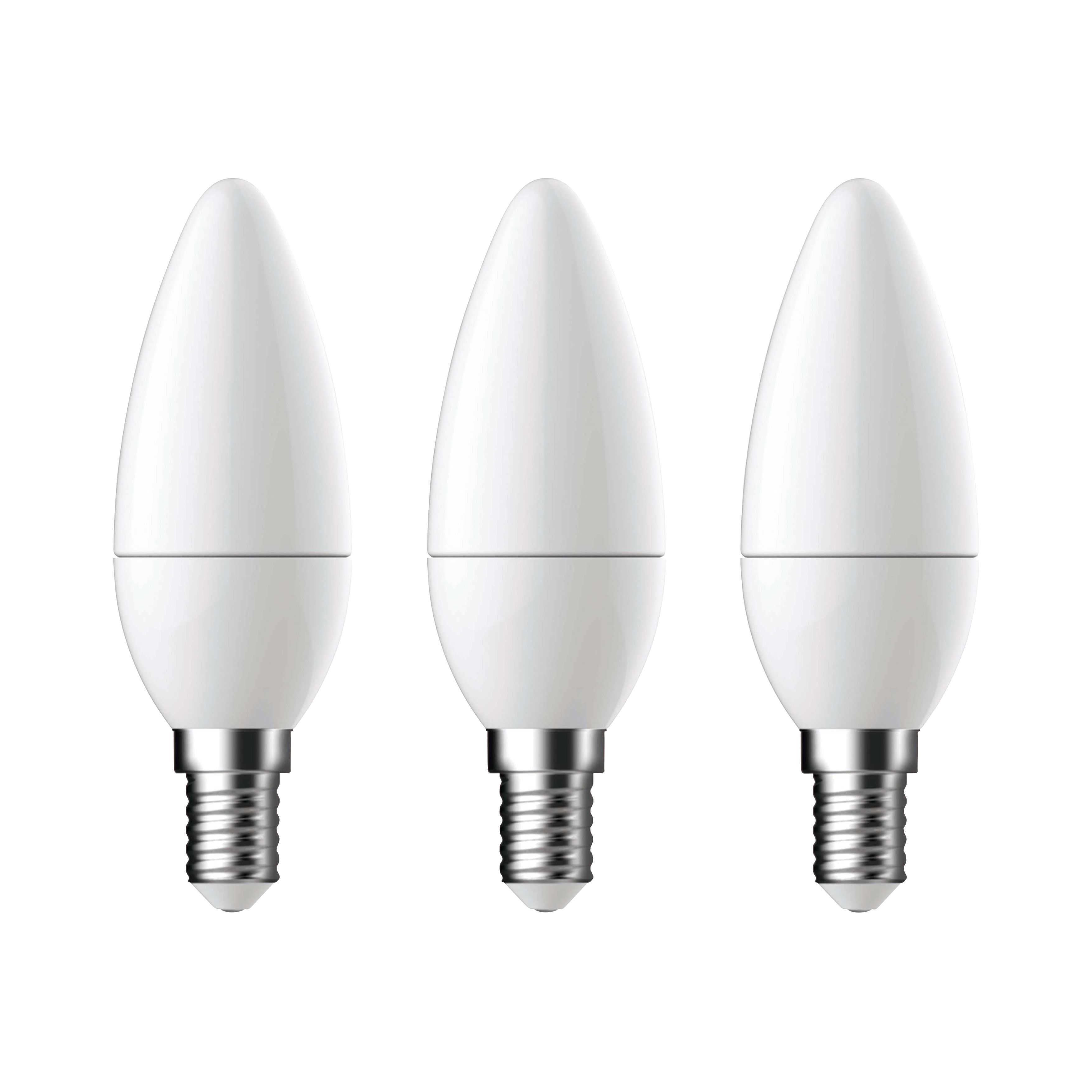 Diall E14 470lm Led Candle Light Bulb, Pack Of 3