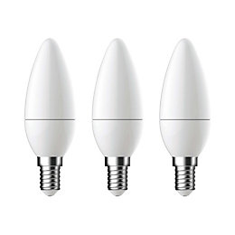 Diall E14 470lm LED Candle Light Bulb, Pack