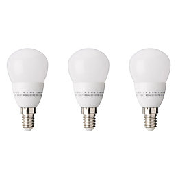 Diall E14 470lm LED Ball Light Bulb, Pack
