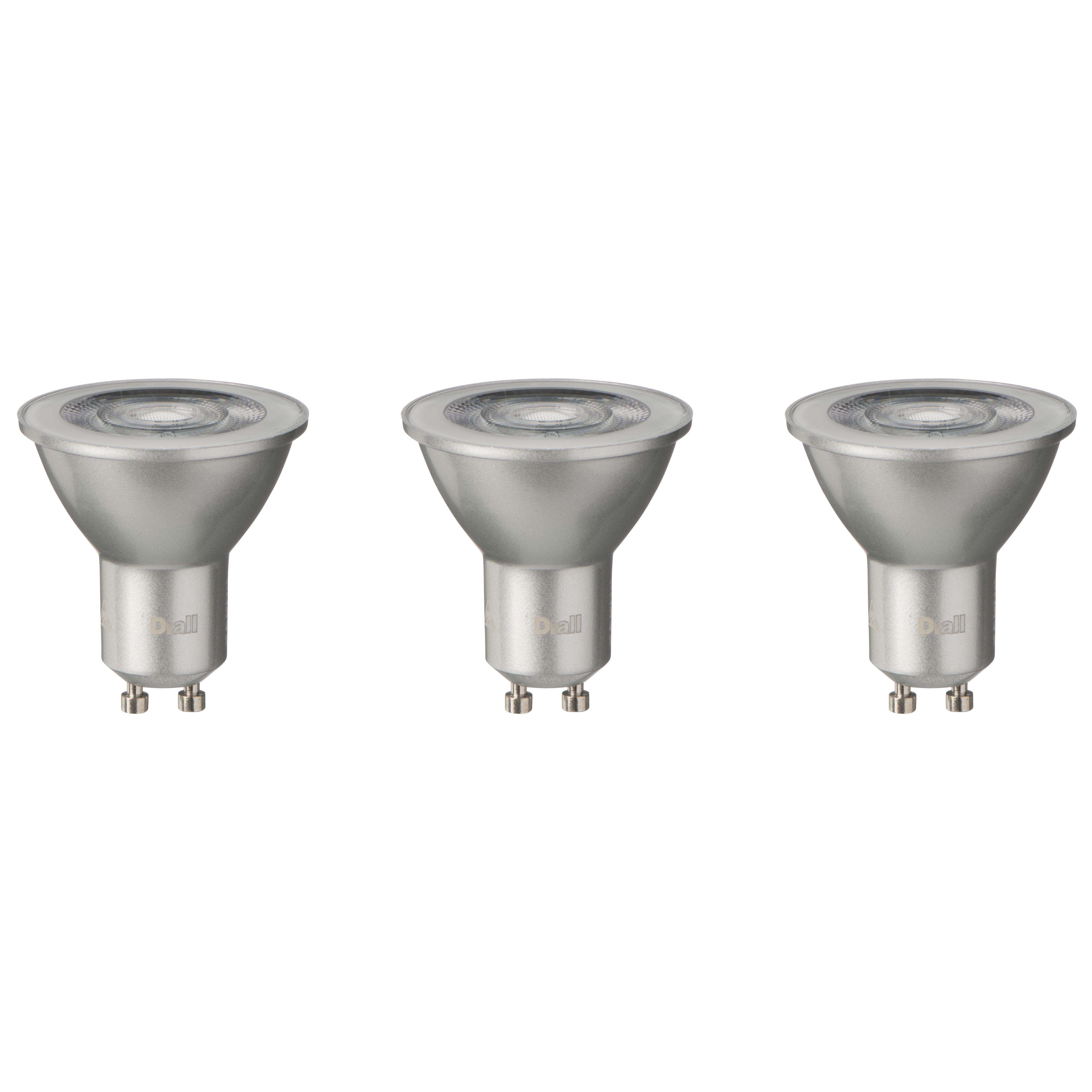 Diall Gu10 345lm Led Reflector Light Bulb, Pack Of 3
