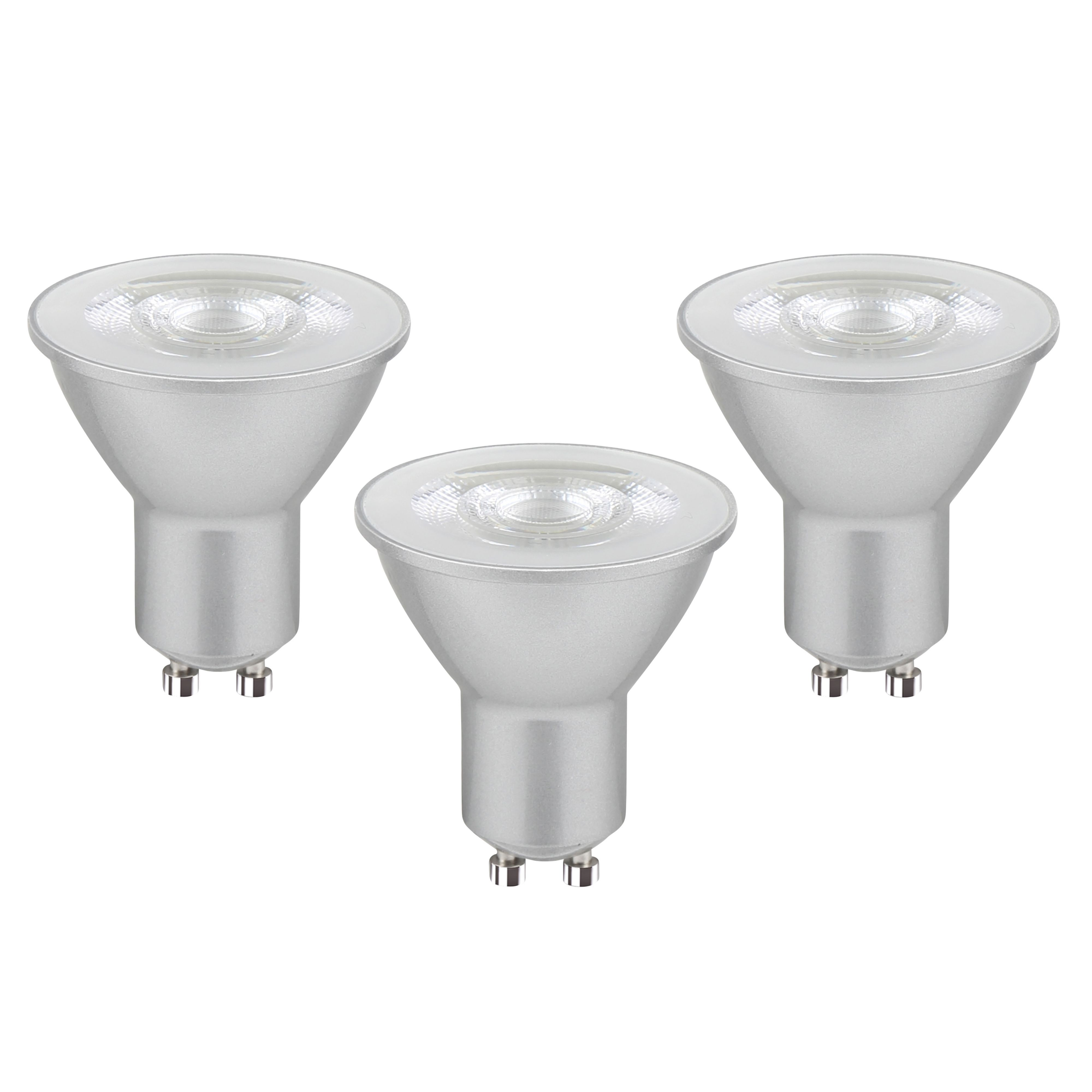 Diall Gu10 345lm Led Dimmable Reflector Light Bulb, Pack Of 3