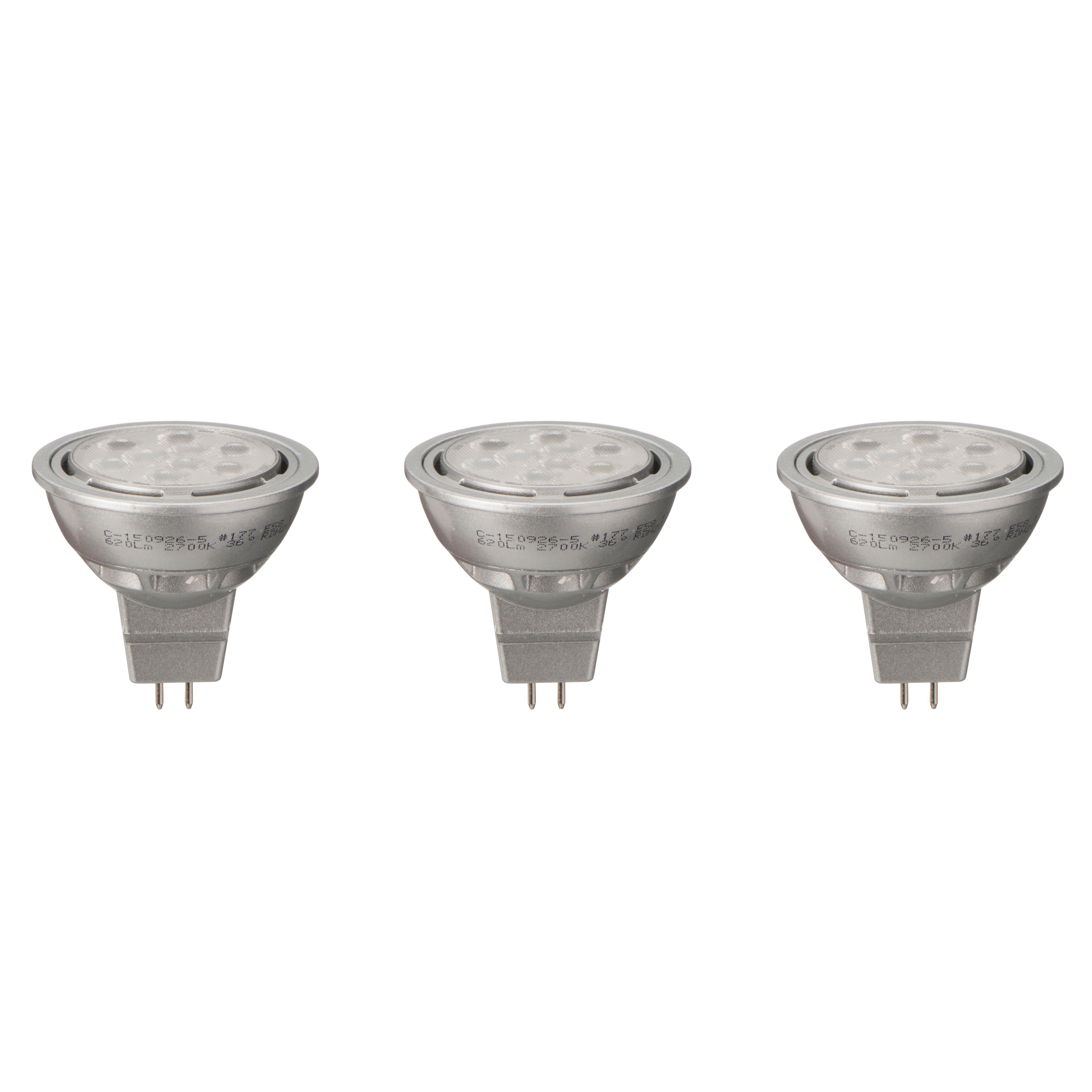 Diall Gu5.3 Mr16 621lm Led Dimmable Reflector Light Bulb, Pack Of 3