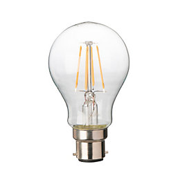 Diall B22 4W LED Filament Classic Light Bulb