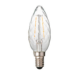 Diall E14 2W LED Filament Spiral Light Bulb