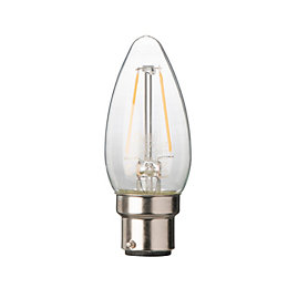 Diall B22 2W LED Filament Candle Light Bulb