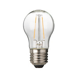 Diall E27 2.1W LED Filament Ball Light Bulb