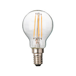 Diall E14 4W LED Filament Ball Light Bulb