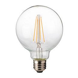 Diall E27 8W LED Filament Ball Light Bulb