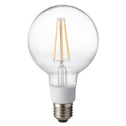 Diall E27 12W LED Filament Ball Light Bulb