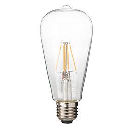 Diall E27 4W LED Filament T26 Light Bulb