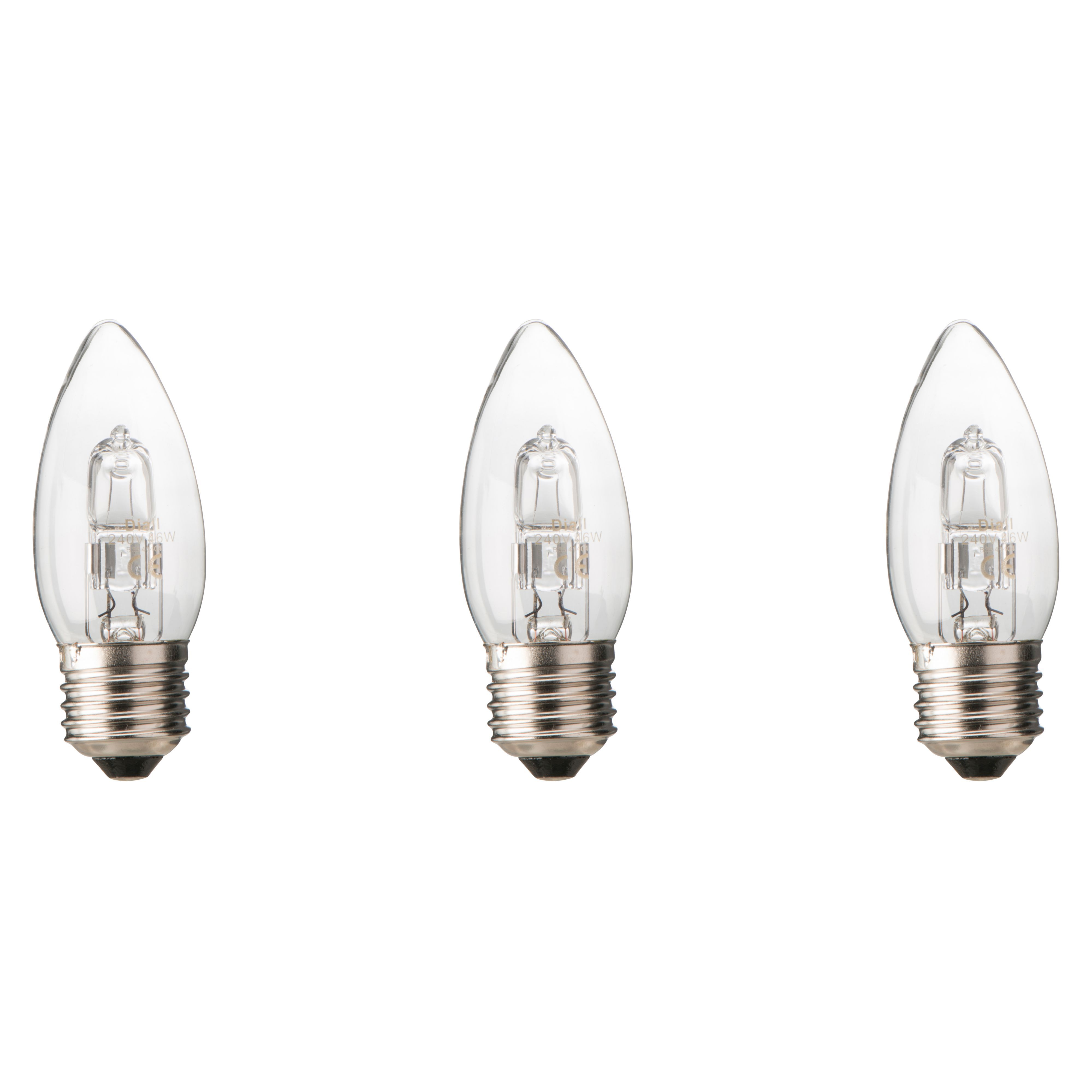 Work Light Screwfix: Diall E27 46W Halogen Dimmable Candle Light Bulb, Pack Of