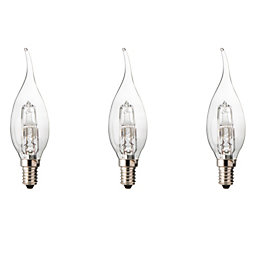Diall E14 46W Halogen Dimmable Candle Bent Tip
