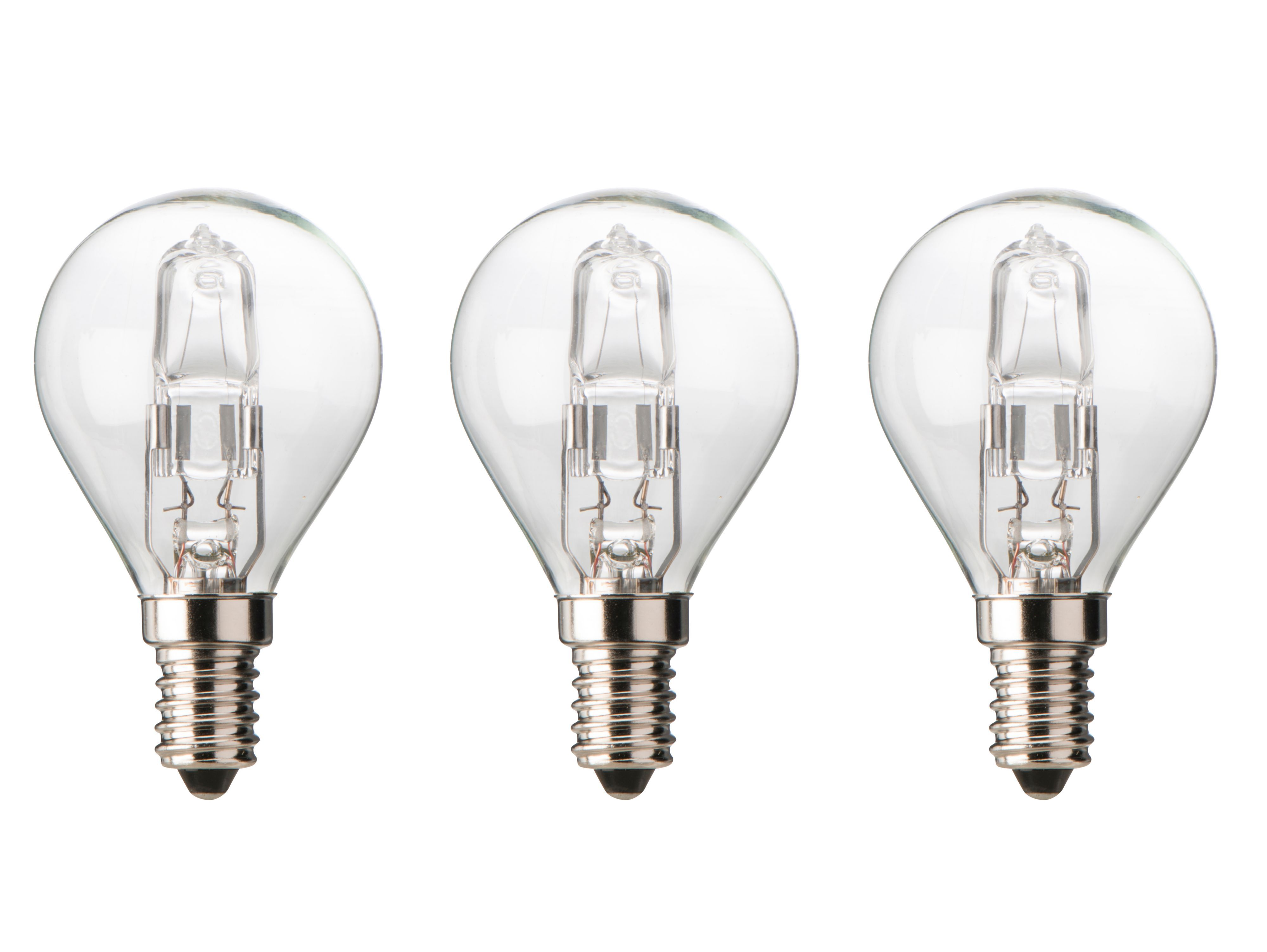 Diall E14 30w Halogen Dimmable Ball Light Bulb, Pack Of 3