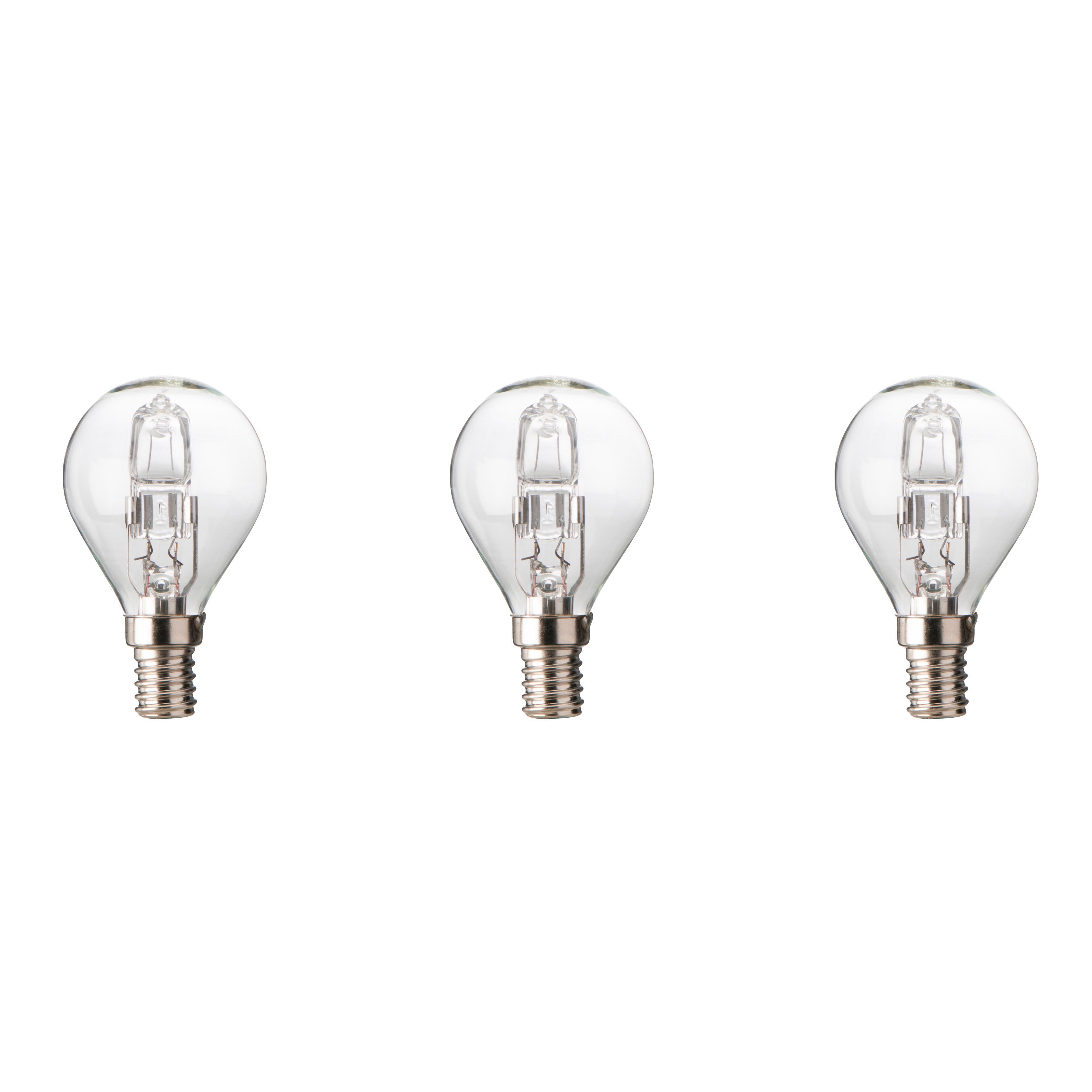 Diall E14 46w Halogen Dimmable Ball Light Bulb, Pack Of 3