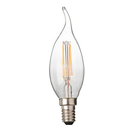 Diall E14 4W LED Filament Candle Bent Tip