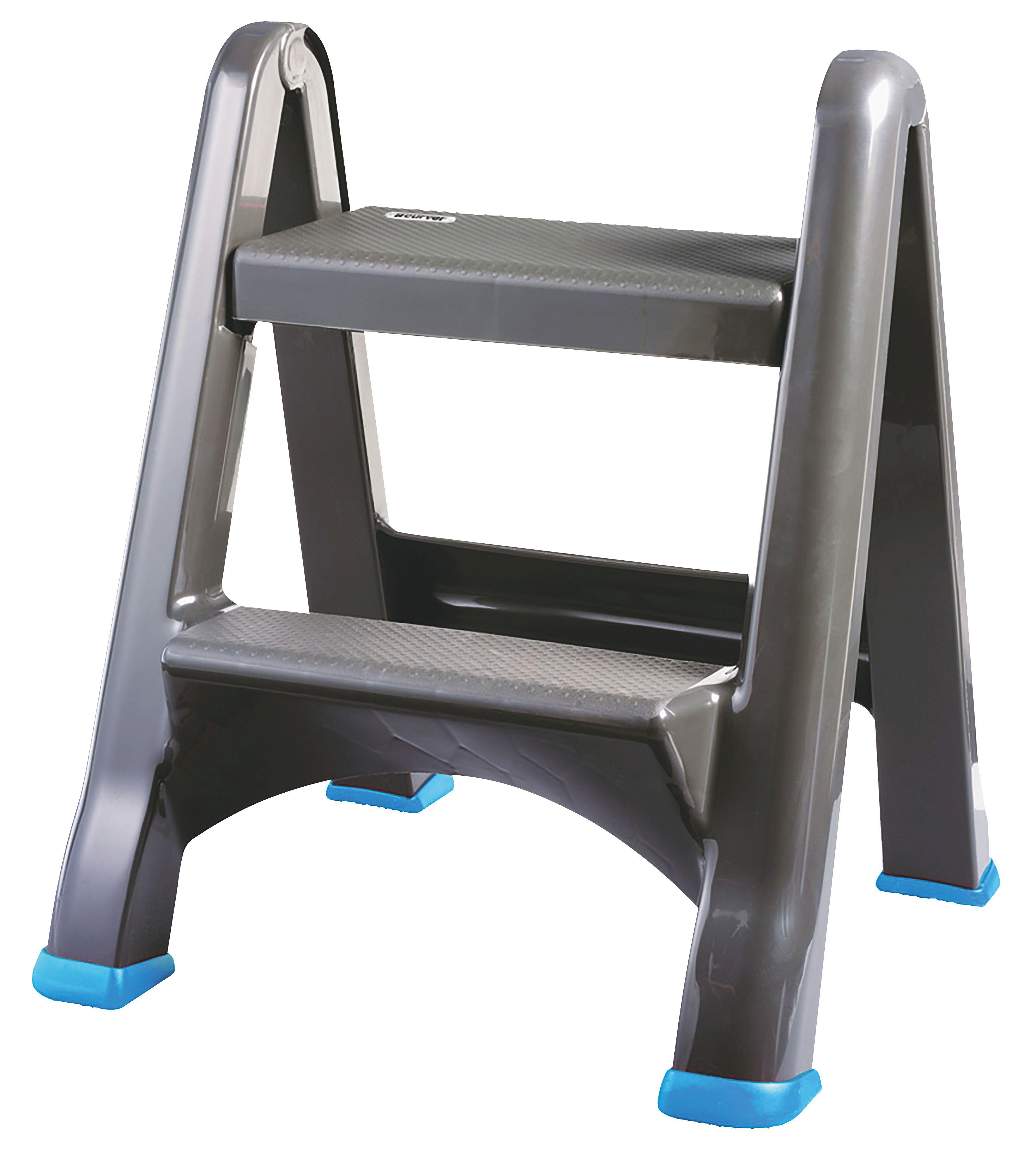 sc 1 st  Bu0026Q & Mac Allister 2 Tread Plastic Step Stool | Departments | DIY at Bu0026Q islam-shia.org