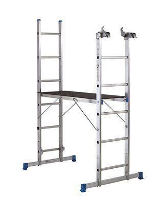 Mac Allister Trade 11 Tread 3 In 1 Ladder With Platform Included